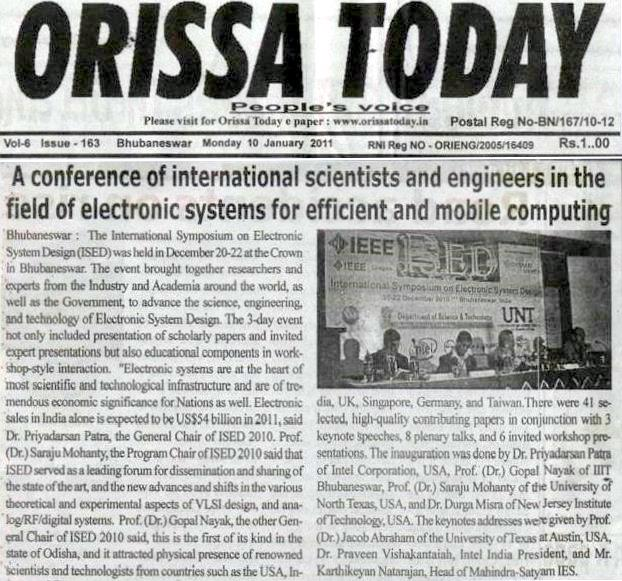 Today Viral News Home: International Symposium On Electronic System Design (ISED